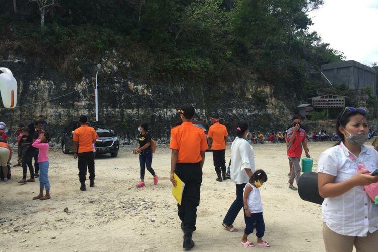 Razia masker Pengunjung Pantai Gunungkidul Minggu (16/8/2020)