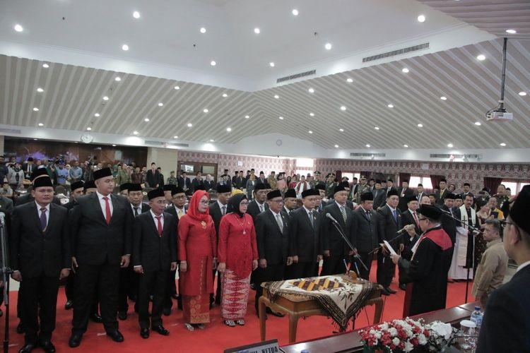 Rapat paripurna DPRD Kota Tangerang dalam rangka pengucapan sumpah/janji Anggota DPRD Kota Tangerang masa jabatan Priode 2019-2024