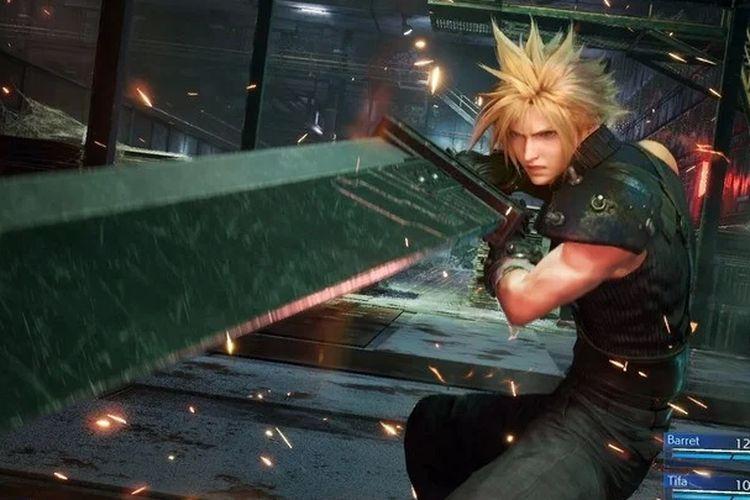 Cloud, karakter protagonis pada Final Fantasy VII Remake