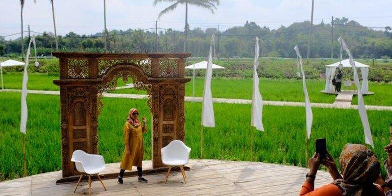 Satu lagi destinasi wisata yang sedang hits di Kabupaten Magelang, SvargaBumi, di perbatasan Dusun Ngaran dan Dusun Gopalan, Desa Borobudur, Kecamatan Borobudur, Magelang, Rabu (12/8/2020).
