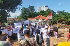 Protes Nilai Ganti Rugi Tanah-Bangunan, Sejumlah Warga Cilenggang Demo di Proyek Tol Serpong-Balaraja
