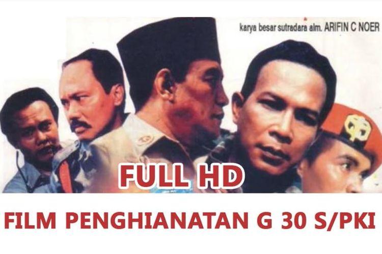 Gambar film Penghianatan G30S/PKI yang tayang tahun 1984 di seluruh Indonesia.