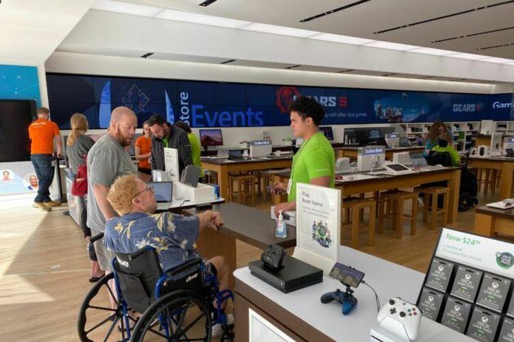 Salah satu perusahaan Microsoft di Salt Lake City, Utah, Amerika Serikat.