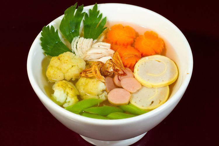 Ilustrasi sup rolade.