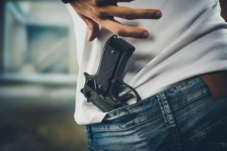 Ilustrasi senjata api.