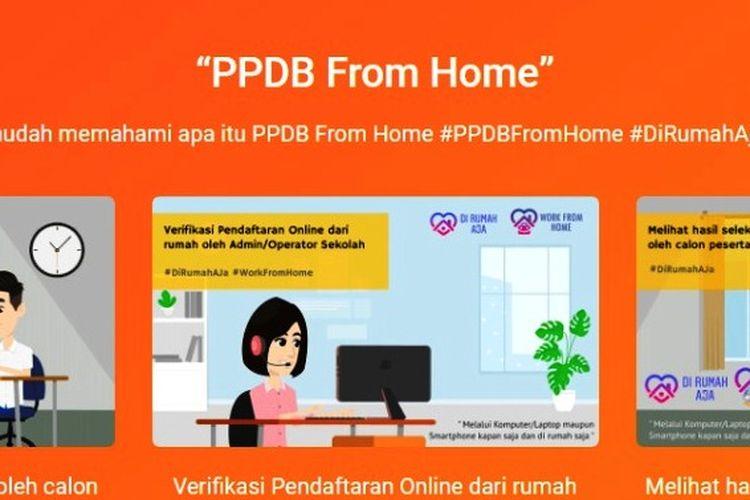 Tangkapan layar PPDB From Home.