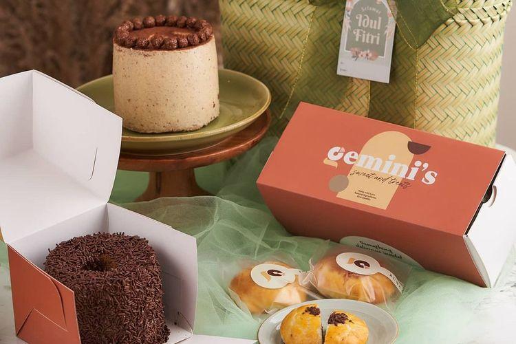 beberapa sajian yang terdapat dalam salah satu paket hamper dari Gemini's Sweet and Treats yang berbasis di Yogyakarta