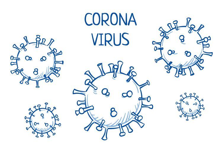 Ilustrasi virus corona, Covid-19