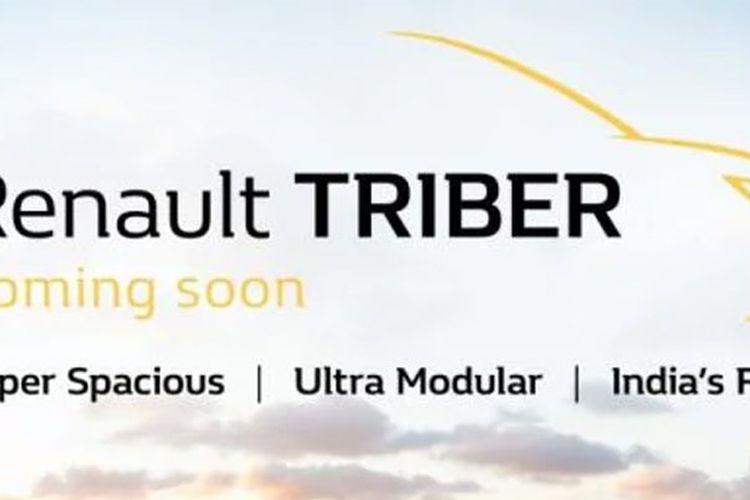 Renault Triber jadi nama produk baru Renault di kelas MPV 7 penumpang