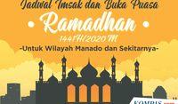 Jadwal Imsak dan Buka Puasa di Manado dan Sekitarnya Selama Ramadhan 2020