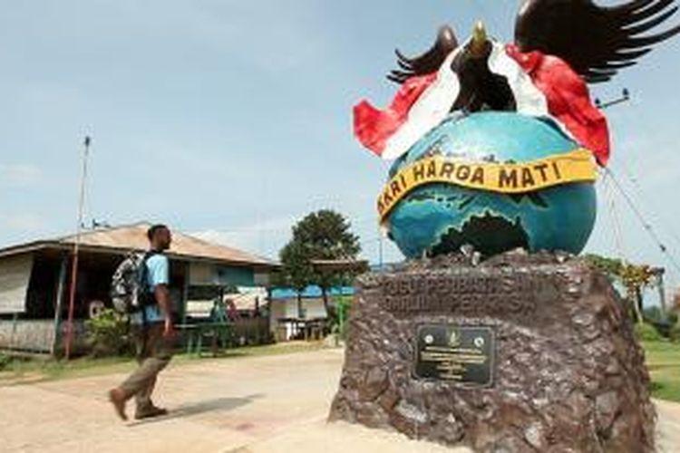Tugu NKRI di Pulau Sebatik