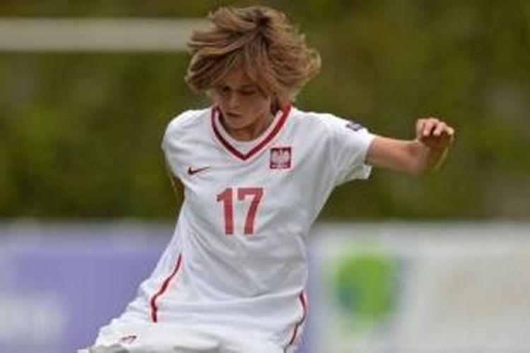 Pesepak bola wanita Polandia, Ewa Pajor.