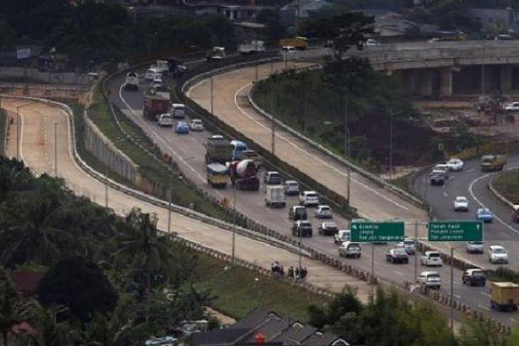 Tol JORR ruas W2 ruas Ulujami-Kebon Jeruk (ke arah kiri) sudah siap difungsikan.