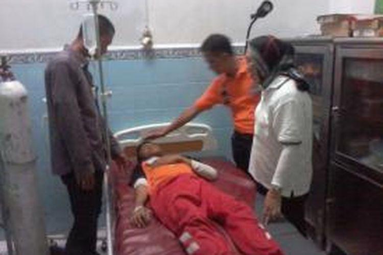 Salah satu siswa Paskibraka se Kota Makassar yang keracunan makanan masih dirawat di RS Pelamonia.