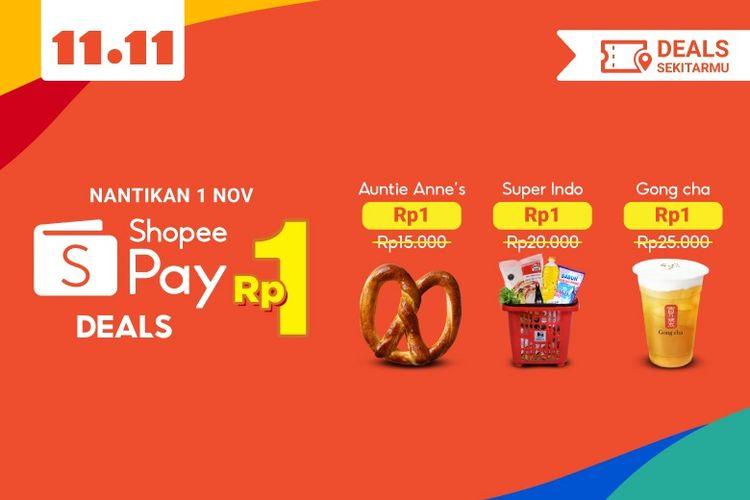 ShopeePay Deals Rp 1 menghadirkan berbagai promo menarik untuk kategori Belanja