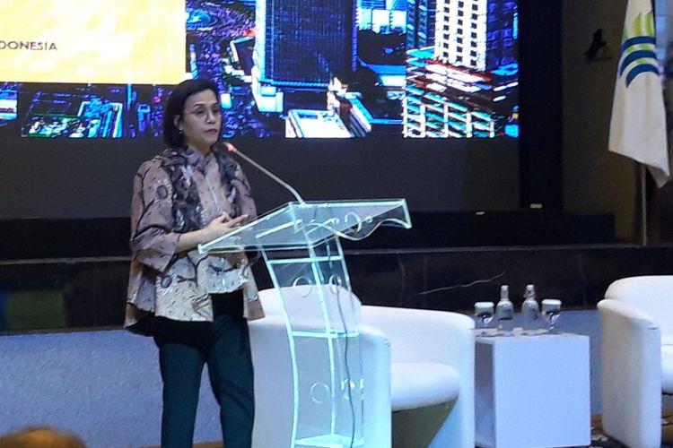 Menteri Keuangan Sri Mulyani Indrawati di Badan Koordinasi Penanaman Modal (BKPM) Jakarta, Senin (17/2/2020).