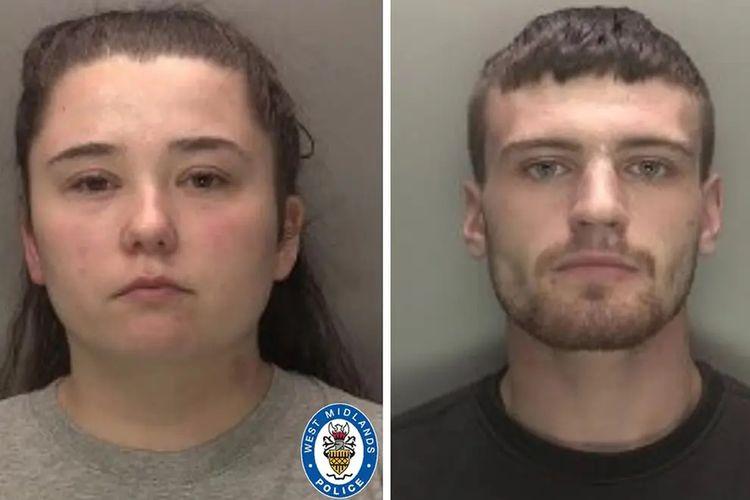 Nicola Priests dan pacarnya Callum Redfern (kanan). Pasangan ini dipenjara masing-masing 15 dan 14 tahun karena membunuh putri mereka yang berusia 3 tahun setelah diganggu saat berhubungan seks.
