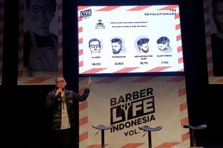 Director Chief Company Fatsi Anzani Hakim saat menjelaskan tren rambut 2019
