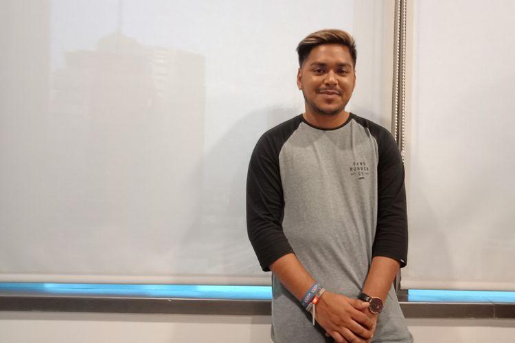 Runner up Indonesian Idol, Ahmad Abdul saat ditemui di acara Lazada Indonesia di Jakarta, Selasa (22/5/2018).
