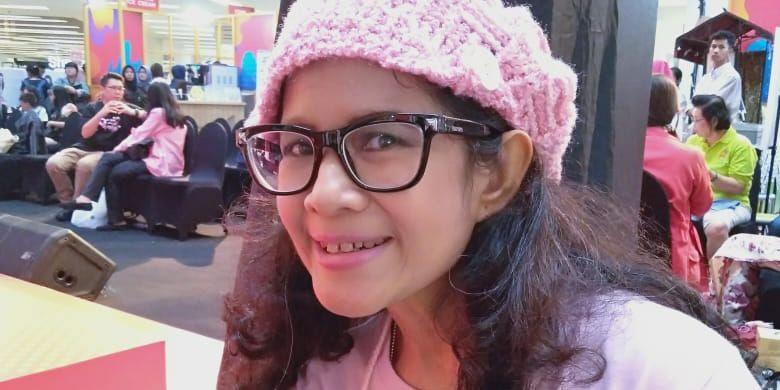 Rika Marwadi saat ditemui dalam acara Kualitas Hidup dengan Kanker Payudara oleh Knitted Knockers Indonesia di Mal Ciputra Jakarta, Sabtu (26/10/2019)