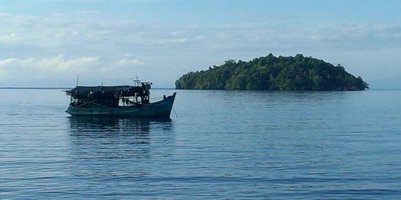 Kapal Motor (KM) Thanh Cong 99612 tertangkap basah Patroli Polair Polres Raja Ampat sedang menangkap ikan hiu di perairan Pulau Misool, Kabupaten Raja Ampat.