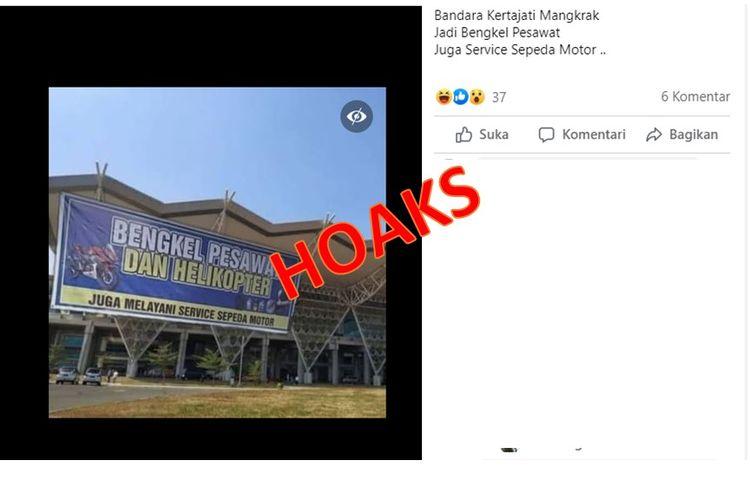 Tangkapan layar foto berisi Bandara Kertajati menerima jasa servis motor