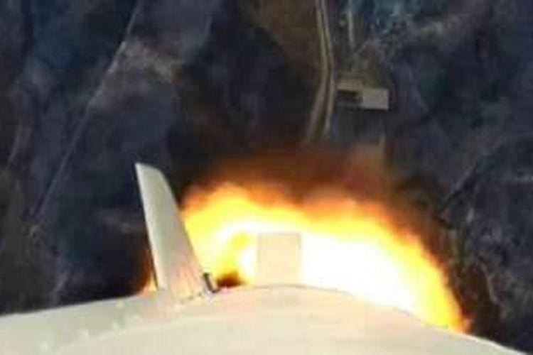 Tayangan peluncuran roket disiarkan secara langsung di televisi Korea Utara.
