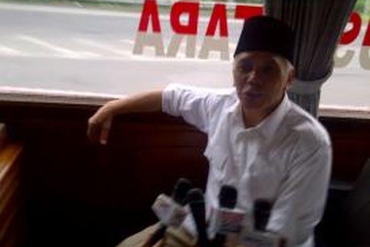 Calon wakil presiden pasangan nomor urut 1 Hatta Rajasa
