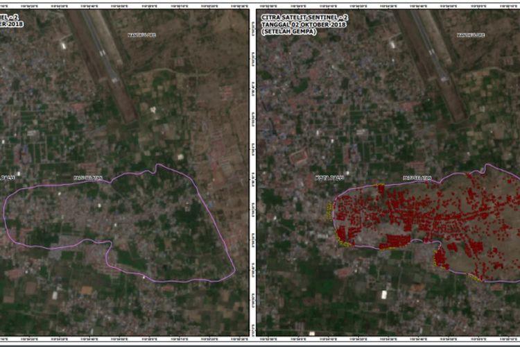 Luas area Petobo yang terdampak Likuifaksi