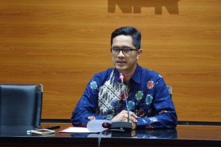 Juru Bicara KPK Febri Diansyah di Gedung KPK Jakarta, Selasa (17/10/2017).