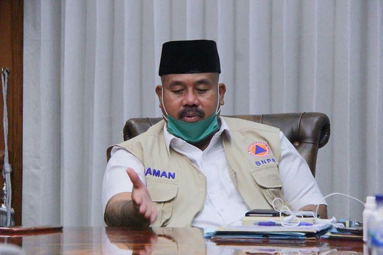 Bupati Kutai Kertanegara, Edi Damansyah saat mendapat kunjungan dari Forum Tenaga Honor Kukar di Pendopo Bupati, Tenggarong, Kukar, Kaltim, Kamis (21/5/2020).