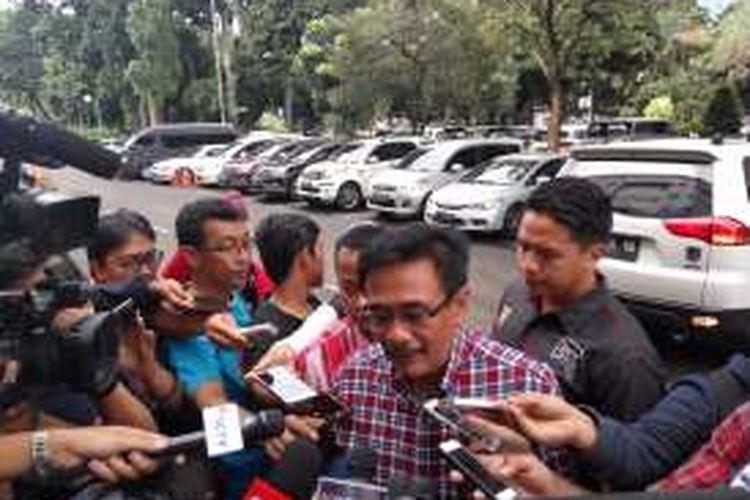 Calon wakil gubernur DKI Jakarta, Djarot Saiful Hidayat saat di Mapolda Metro Jaya, Senin (5/12/2016).