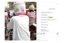 Video Viral Pengendara Memakai Helm Magic Com, Ternyata Ini Akhirnya