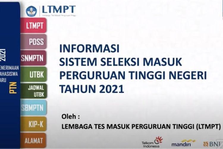 Jadwal dan Syarat Pendaftaran SNMPTN, UTBK, SBMPTN 2021