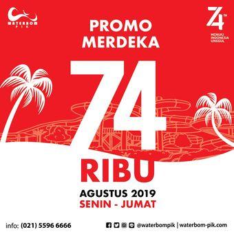 Promo Waterbom Pantai Indah Kapuk di Hari Kemerdekaan RI ke-74.