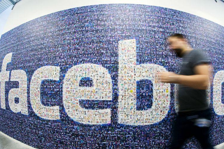 Ilustrasi logo Facebook