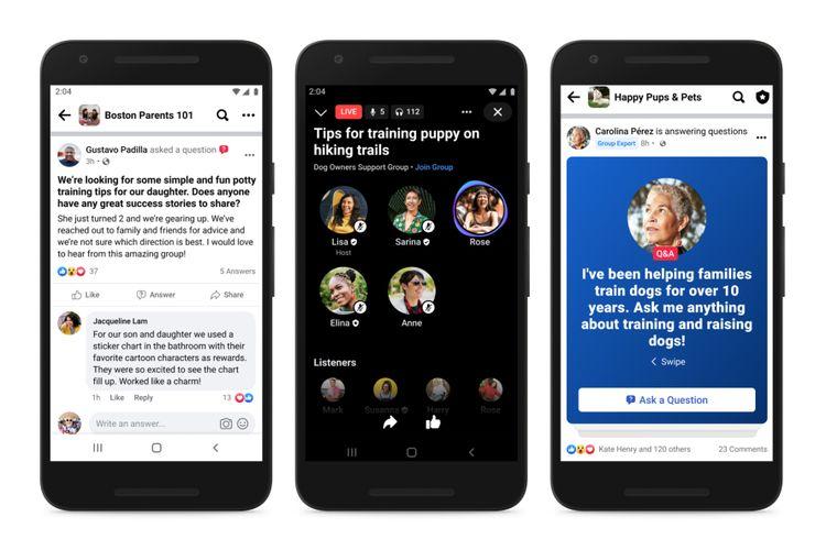 Lencana Pakar Grup di aplikasi Facebook