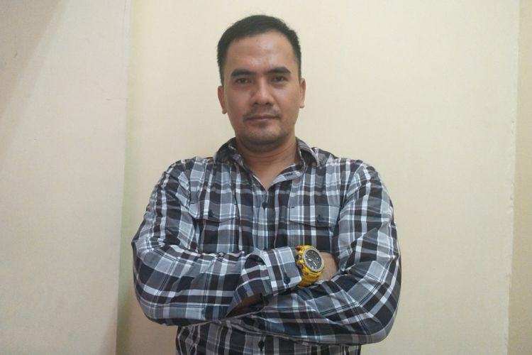 Saipul Jamil saat ditemui pada akhir acara perayaan 17 Agustus di Lapas Klas 1A Cipinang, Jakarta Timur, Jumat (17/8/2018) sore.