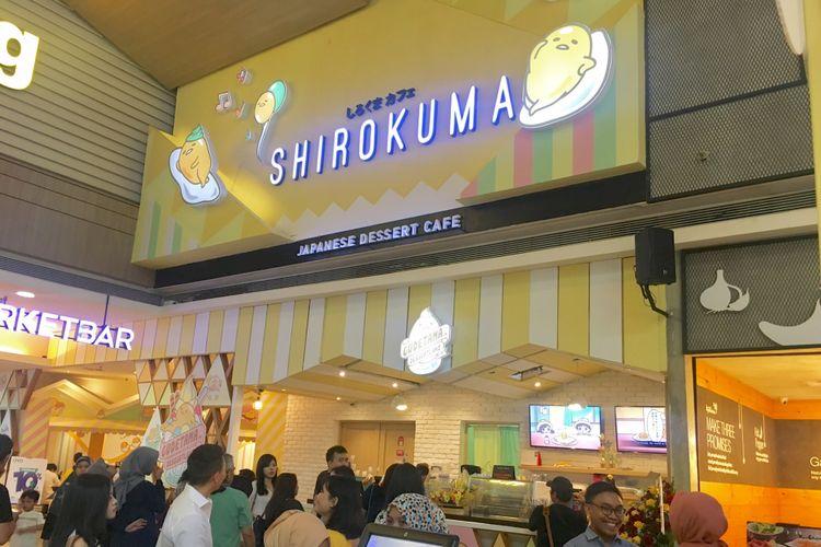 Gudetama in Dessertland, kafe Gudetama pertama di Indonesia, hasil kolaborasi Shirokuma dengan Sanrio di Mal Kota Kasablanka, Jakarta, Sabtu (17/11/2018).