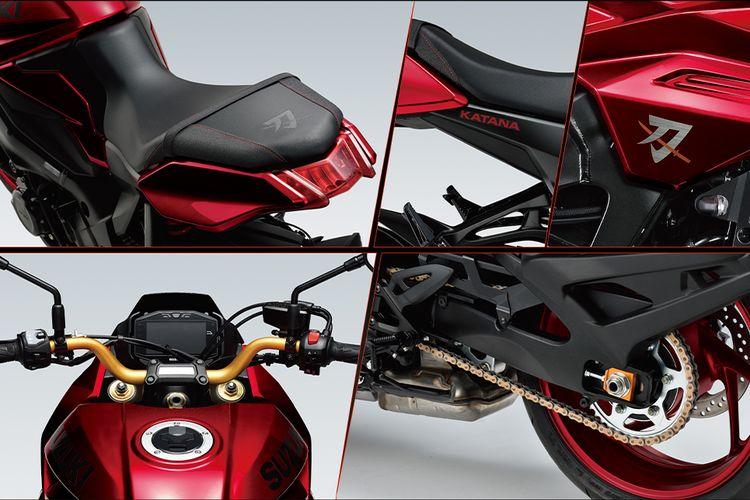 Suzuki Katana 1000 special edition warna merah.