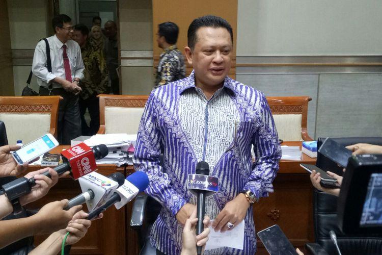Ketua Komisi III DPR Bambang Soesatyo di Kompleks Parlemen, Senayan, Jakarta, Rabu (13/9/2017)