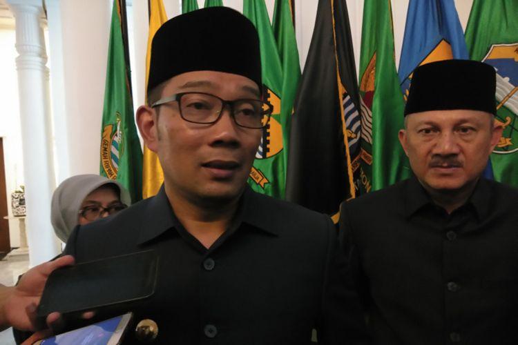 Gubernur Jawa Barat Ridwan Kamil saat ditemui di Gedung Sate, Jalan Diponegoro, Kamis (20/2/2020).