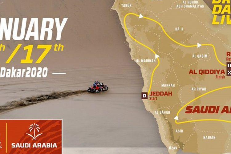 Rute Reli Dakar yang akan berangsung di Arab Saudi mulai 2020 mendatang.