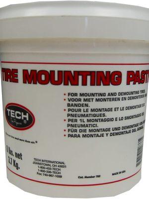 Ilustrasi mounting paste sebagai pelumas untuk memasang ban pada pelek.