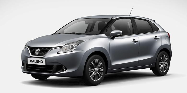 Wajah depan generasi penerus Baleno sekaligus versi produksi model konsep Suzuki IK-2.