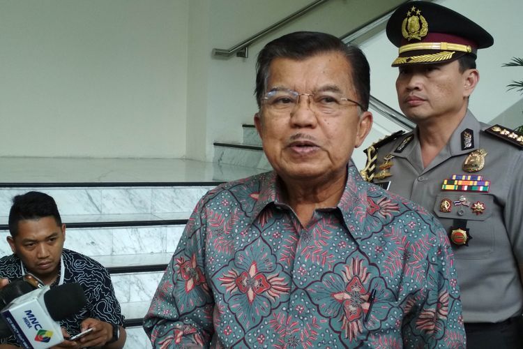Wakil Presiden RI, Jusuf Kalla Ketika Ditemui di Kantor Wakil Presiden RI, Jalan Medan Merdeka Utara, Jakarta Pusat, Selasa (30/5/2017).
