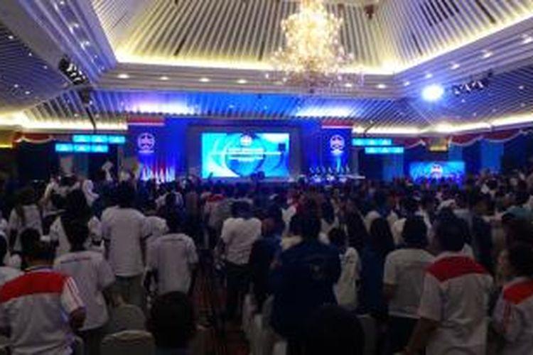 Suasana debat antarkandidat Konvensi Capres Partai Demokrat, di Hotel Sahid Jakarta, Minggu (27/4/2014).