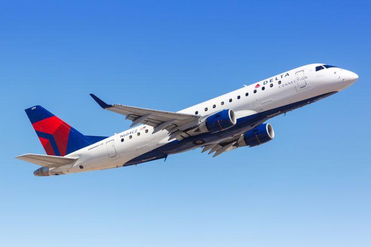 Pesawat Delta Airlines.