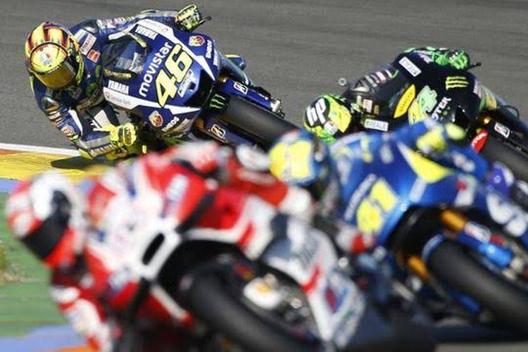 Rossi start dari urutan terakhir di Valencia pada MotoGP 2015