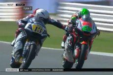 Aksi Tidak Sportif Pebalap Moto2, Tekan Handle Rem Pebalap Lain